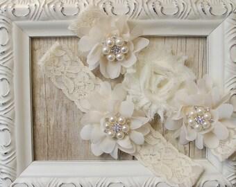 GARTER - Customizable Wedding Garter w/ toss - Aqua Blue Garter, Something Blue, Crystal Garters, Bridal Garter, Rhinestone Garter