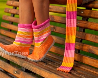 Crochet Boots for the Street Outdoor Boots Summer Boots Made to Order