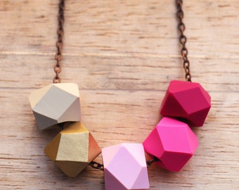 Flamingo Geo Pop necklace