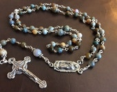 Ocean Jasper wire wrapped rosary