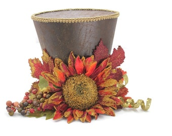 Thanksgiving top hat, Thanksgiving table decoration, Sunflower table decoration, Holiday decoration