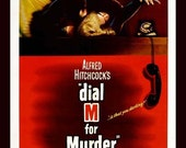 Fridge Magnet image Dial M for Murder movie poster Alfred Hitchcock Grace Kelly