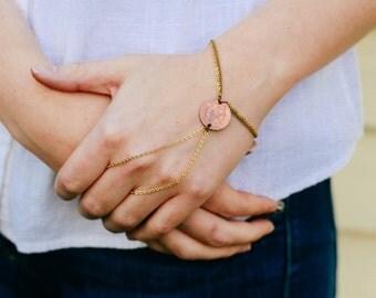 Mara Bracelet in Gold Coin - Recycled Vintage Coin Slave Bracelet