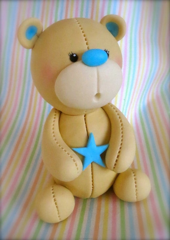 Fondant Teddy Bear Cake Topper Tutorial