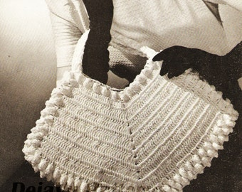Vintage 1940s Crocheted Purse Pattern #4807 INSTANT DOWNLOAD - PDF