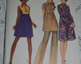 Butterick 6519 Misses Maternity Dress and Pants Sewing Pattern  - UNCUT - Size 8 or or Size 10
