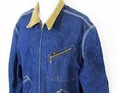 Vintage Lee 191-LB Wool Lined Denim Jacket Sz.XL 1960's