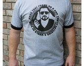 Men's pop culture t-shirt, Big Lebowski Walter shirt, nerdy movie gifts for him, gifts under 40, ready to ship