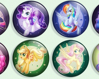 My Little Pony Friendship is Magic - Pinback Button Set