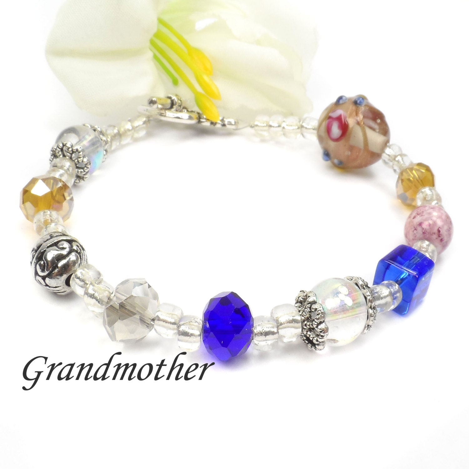 Grandmothers poem bracelet grandma jewelry mothers day gift for Grandmother jewelry you can add to