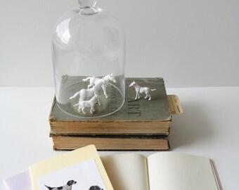 Lemon Moleskine Cahier blank journal with Hunting Dogs