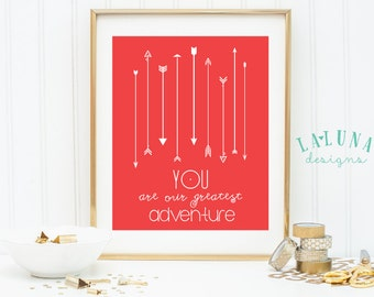You Are our Greatest Adventure Nursery Art, Arrow Print, Arrow Wall Art, Arrows Nursery Art, Arrow Nursery Decor