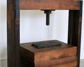 Antique book press circa 1800 made from gorgeous oak and rustic iron perfect for use as a bookcase or side table for your sofa
