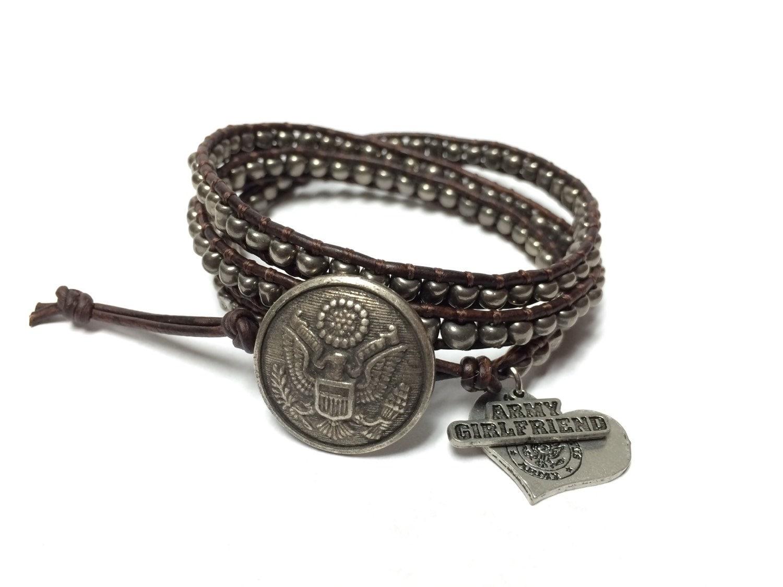 army girlfriend triple wrap bracelet military bracelet army. Black Bedroom Furniture Sets. Home Design Ideas