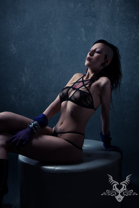 Sex Woman In Gothic Lingerie 46