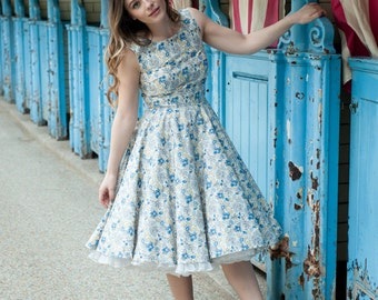 SALE Floral 1950's inspired dress