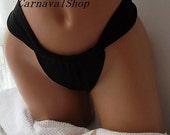 Black Brazilian bikini bottoms tie bikini bottom swimsuit string bikini women's accessory Brazilian string bottom-double layer