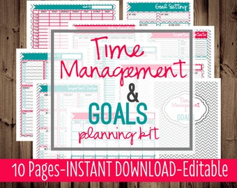 50% OFF Weekly Planner, Printable Planner Pages, Daily Planner, Letter Size, Arc Planner Printable, 2015 Planner, 10 Pages, Instant Download