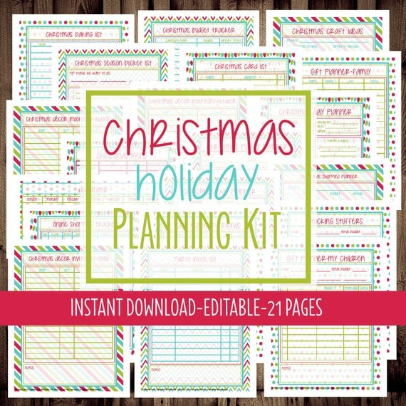 christmas planner holiday planner by mamasgotittogether on etsy