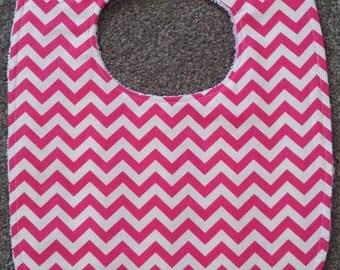 Elements Chevron Bib - Pink