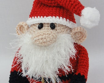 Amigurumi Crochet Pattern - Santa Claus - XS Edition