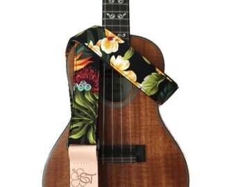 """Musical Instrument Strap, Ukulele - Bird of Paradise on 1.5"""""""