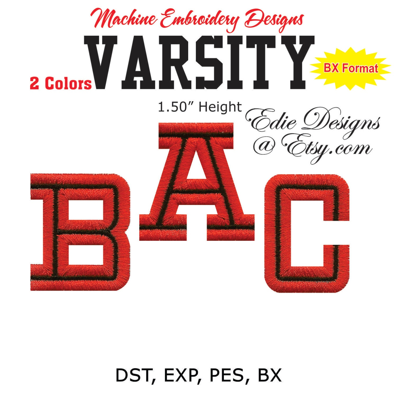 Varsity letters collegiate monogram fonts bx