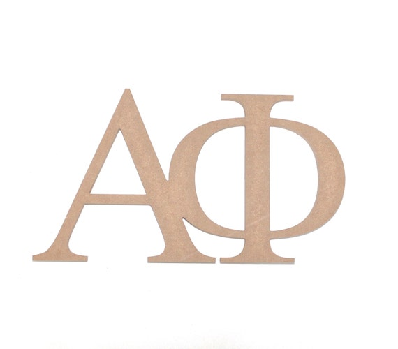 Alpha phi fraternity sorority paintable wooden by mossijossi for Buy wooden greek letters