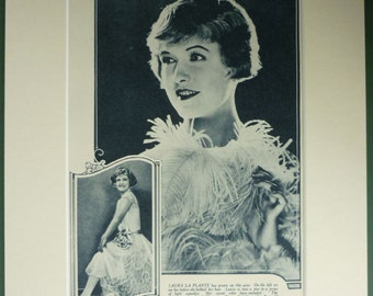 1920s Old Hollywood Print of Silent Movie Star Laura La Plante Vintage film star portrait Art, Antique Art Deco picture of a beautiful woman