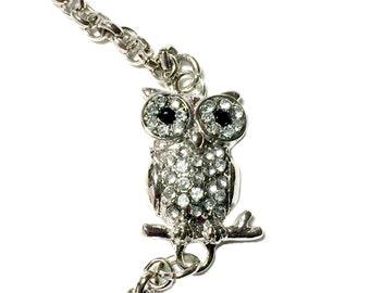 Crystal Owl Bracelet