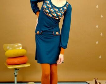 "Retro dress ""SNAIL ON SPEED"""