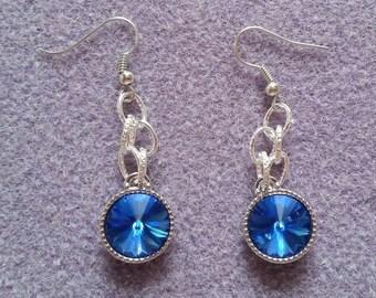 Stunning Blue Chain Earrings