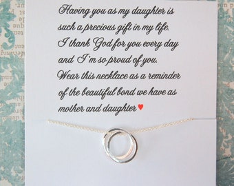 Mother Daughter necklace, Daughter Jewelry, Gift for DAUGHTER, Mother to daughter, Birthday gift for daughter