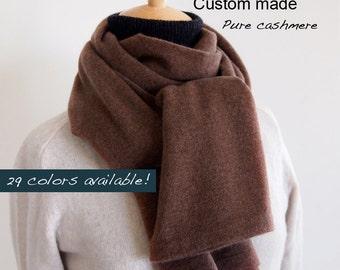 Pure cashmere scarf  / Seamless cashmere scarf / Men scarf / Women scarf / Scarf / Pure cashmere / Winter accessory
