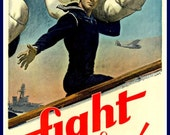 US Navy Poster Recruiting Print.