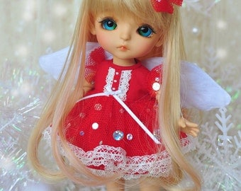 Lati Yellow/ Puki Fee -  Little Fairy Dress - Red Color