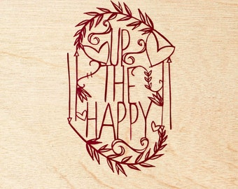 Laser-Cut Papercutting Artwork - Up the Happy
