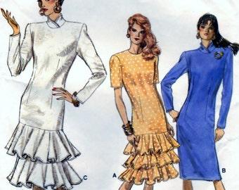 Misses'/Misses' Petite Dress  Size 6. 8. 10 B30.5 - 31.5 - 32.5 - CUT Vogue 7094
