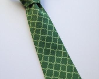 Toddler Tie, Boys Neck Tie, Infant Tie, Green Necktie