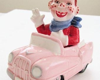 Rare HOWDY DOODY in His CONVERTIBLE Car VIntage Salt & Pepper Shakers by  Vandor