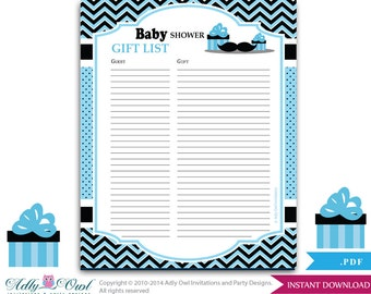 mustache guest gift list gues t sign in sheet card for baby shower