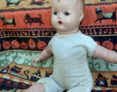 Antique Creepy Baby Doll Gothic Haunted house prop Scary Halloween spooky Macabre Free Shipping