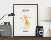 Zombie Safe Zone Liverpool Map Poster - Liverpool United Kingdom City Map