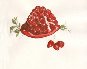 Pomegrenate (original watercolor)