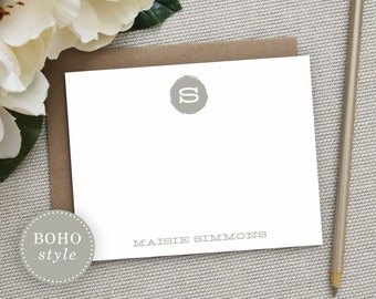 Personalized Stationery. Personalized Notecard Set. Personalized Stationary. Monogram / Monogrammed Stationery / Note Cards. Chic Monogram.