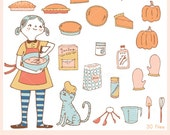 Happy Pumpkin Pie CLIP ART Set