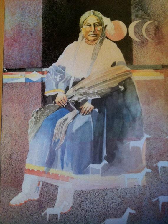 Lakota Sioux Penn 1983 Lithograph The Grandmother Native