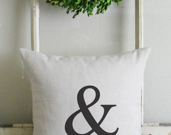 Ampersand 20 x 20 Pillow Cover_home decor, cushion, throw pillow, gift, present_