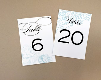 Wedding Table Numbers / Table Numbers for Weddings and Events / Party Decoration / Vintage Floral Table Number /Table Numbers Wedding /Decor