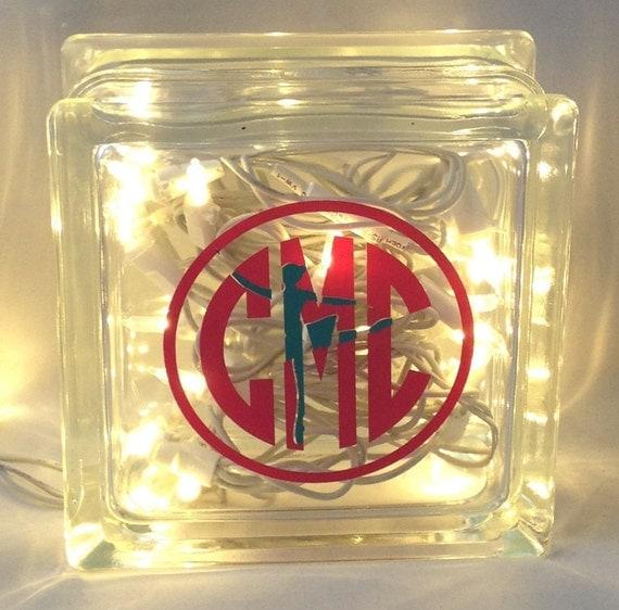 Personalized Glass Block, Personalized Decor, Home Decor, Personalized Gift, night light, Light Block, Personalized Light, nursery decor